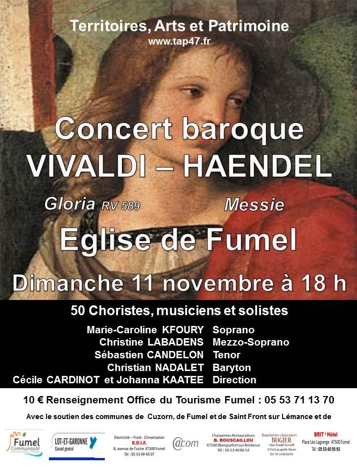 Concert musique baroque église de Fumel